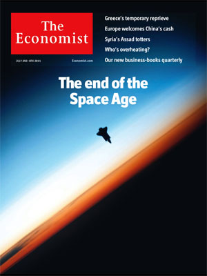 Economist Cover: The end of the Space Age