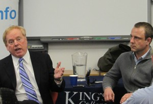 Former CIA officer Michael Hurley and Dr. Peter Neumann (Photo credit: ICSR)