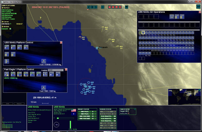 Screenshot of Iran Strike scenario in GCB2