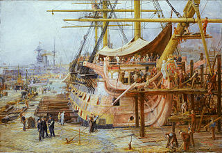 Restoring HMS Victory (Wikimedia Commons)
